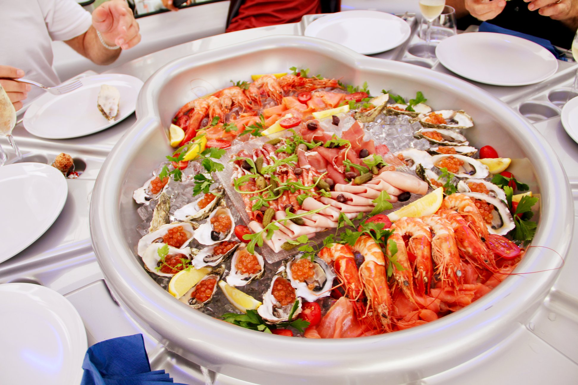 Floating Donut Company seafood platter